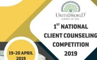unitedworld school of law client counselling competition 2019