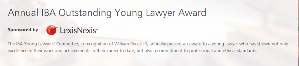 Annual IBA Young Lawyers Award