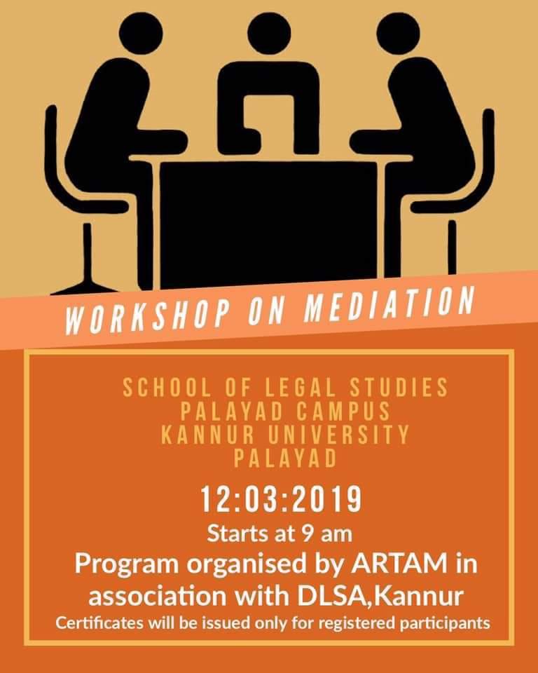 ARTAM's 3rd Workshop on Mediation