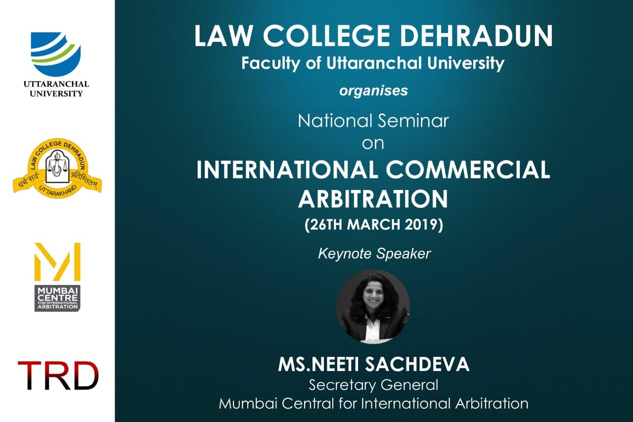 Uttaranchal University Arbitration Seminar