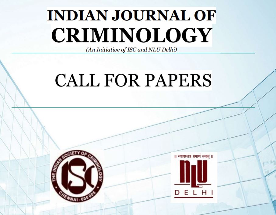 call for papers aIndian journal of criminology