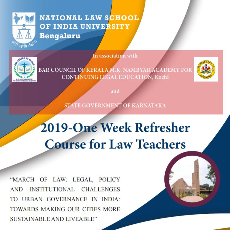 NLSIU Refresher Course for law teachers 2019