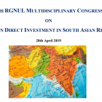 RGNUL conference FDI in South Asian Region