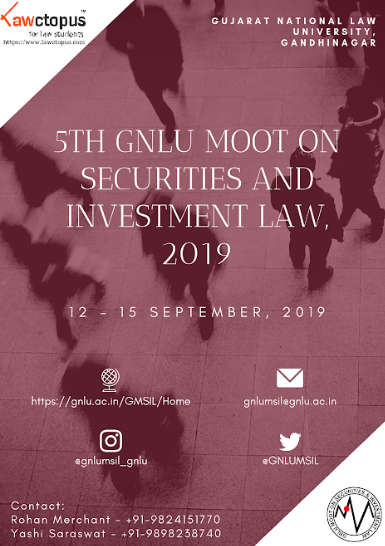 5th GNLU Moot on Securities and Investment Law
