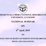 Seminar protection of persons with disabilities Lucknow