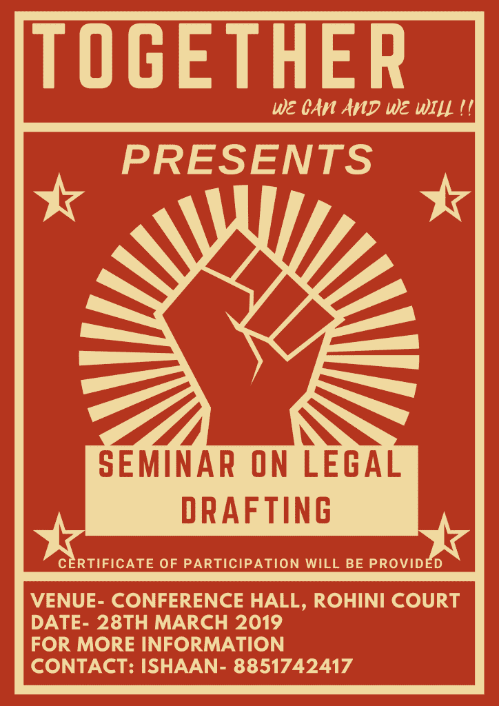 Seminar on Legal Writing by Together NGO
