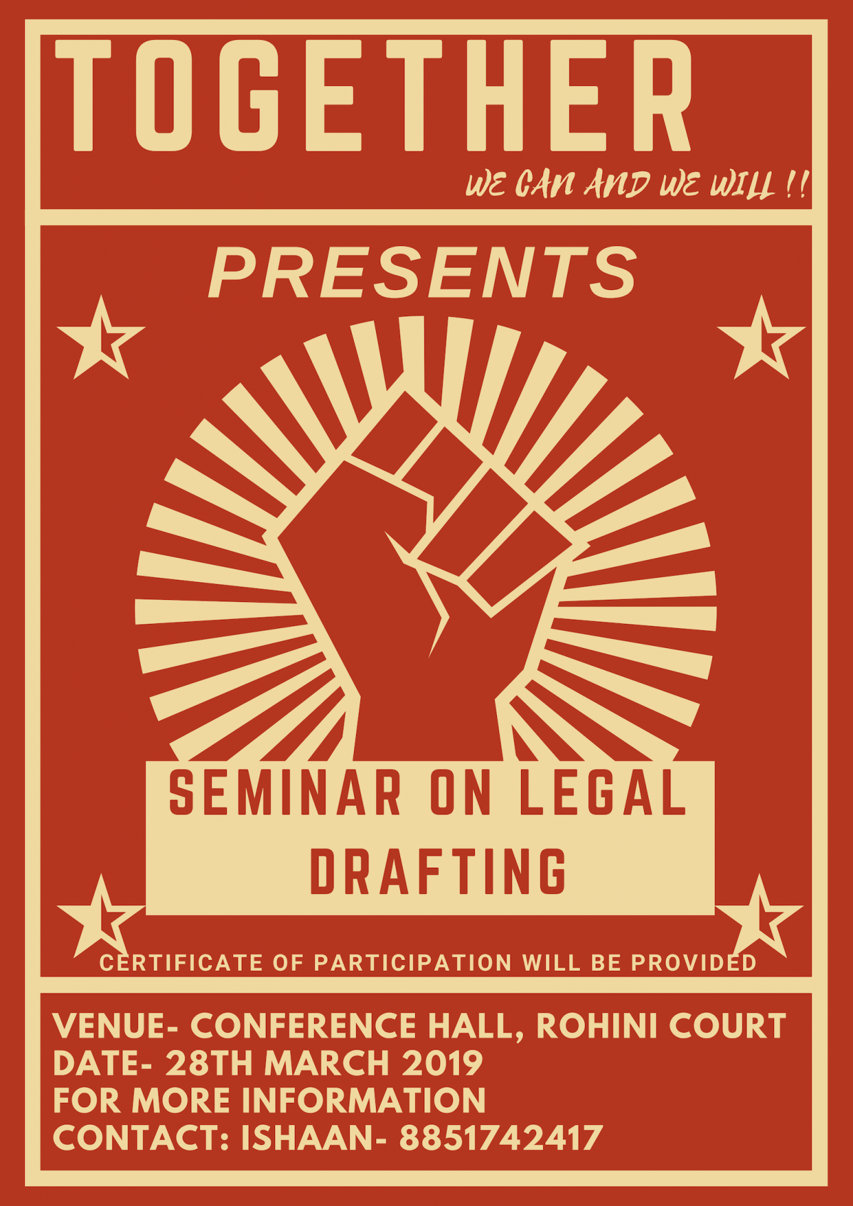 Seminar and Legal Drafting Competition on Legal Writing by Together NGO [March 28, Delhi]: Applications Open