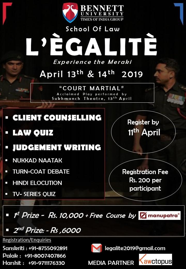 Bennett University's Law Fest