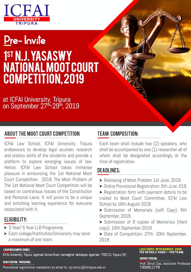 ICFAI University N.J. Yasaswy National Moot Court