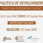 Politics of development CCS Goenka University