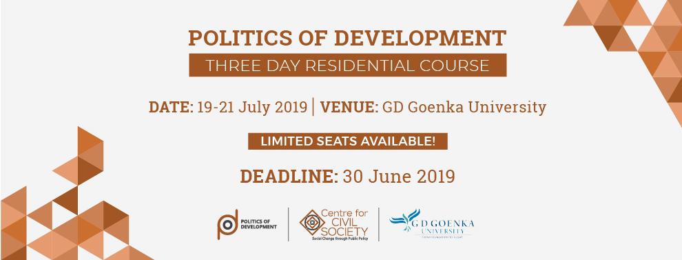 Politics of development CCS Goenka University