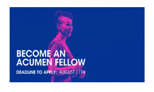 Acumen Fellowship Program 2020 for Leaders: Apply by Aug 11
