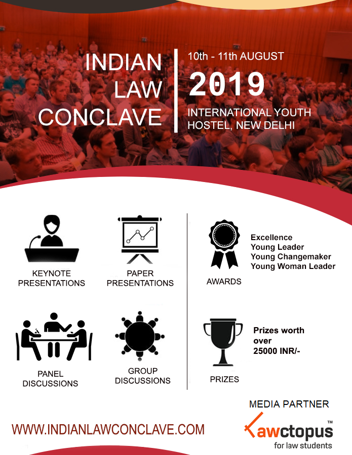 Paper Presentation Competition at 2nd Indian Law Conclave 2019 Delhi