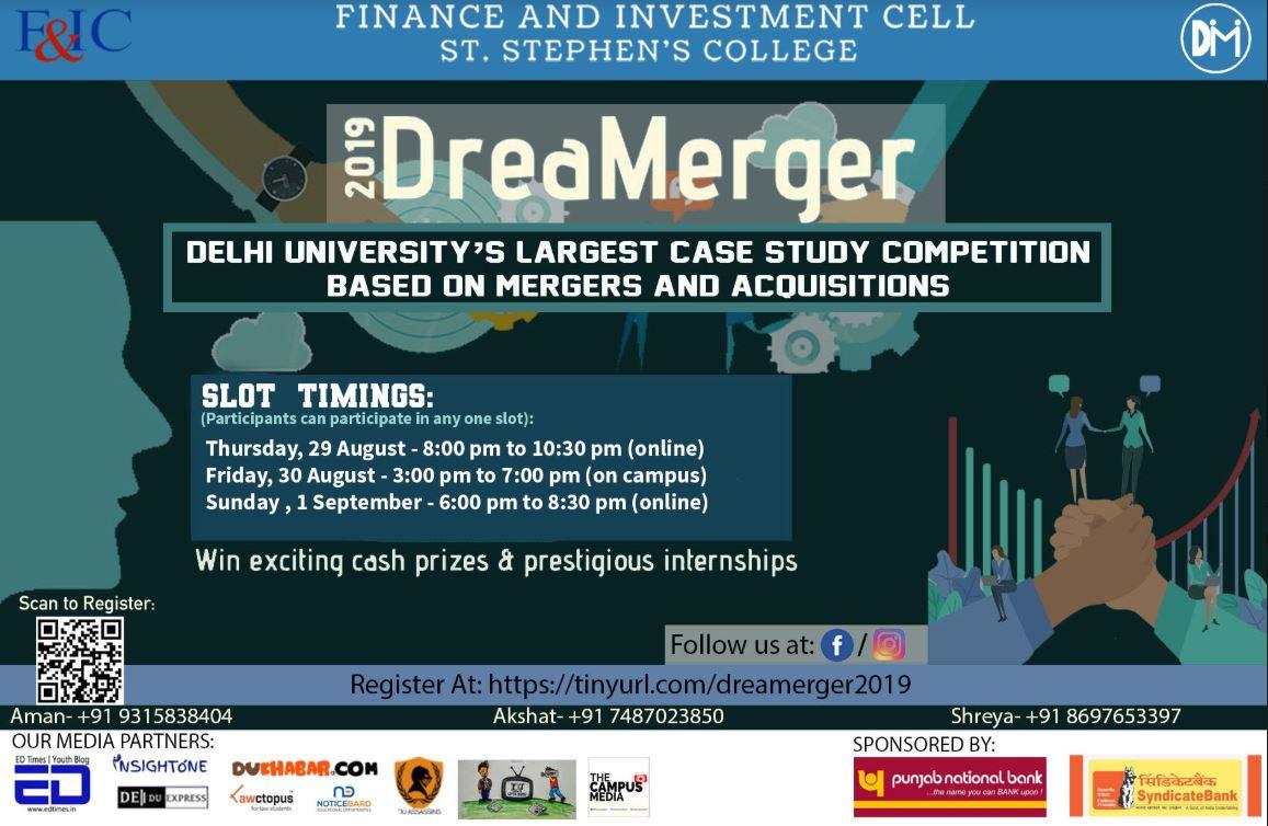 Dreamerger Case Study Competition, St Stephens Delhi