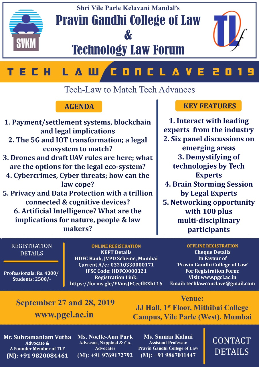 Technology Law Conclave 2019 by Pravin Gandhi College of Law