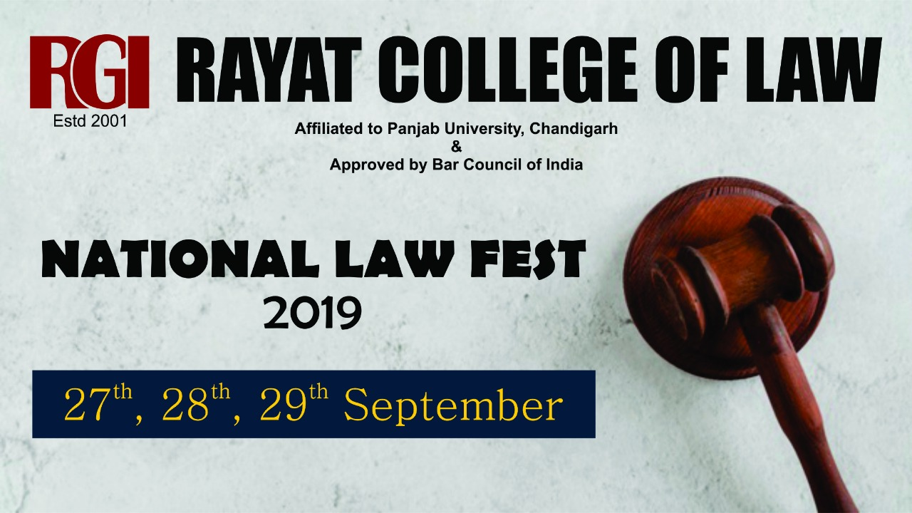 Rayat College of Law's National Law Fest 2019