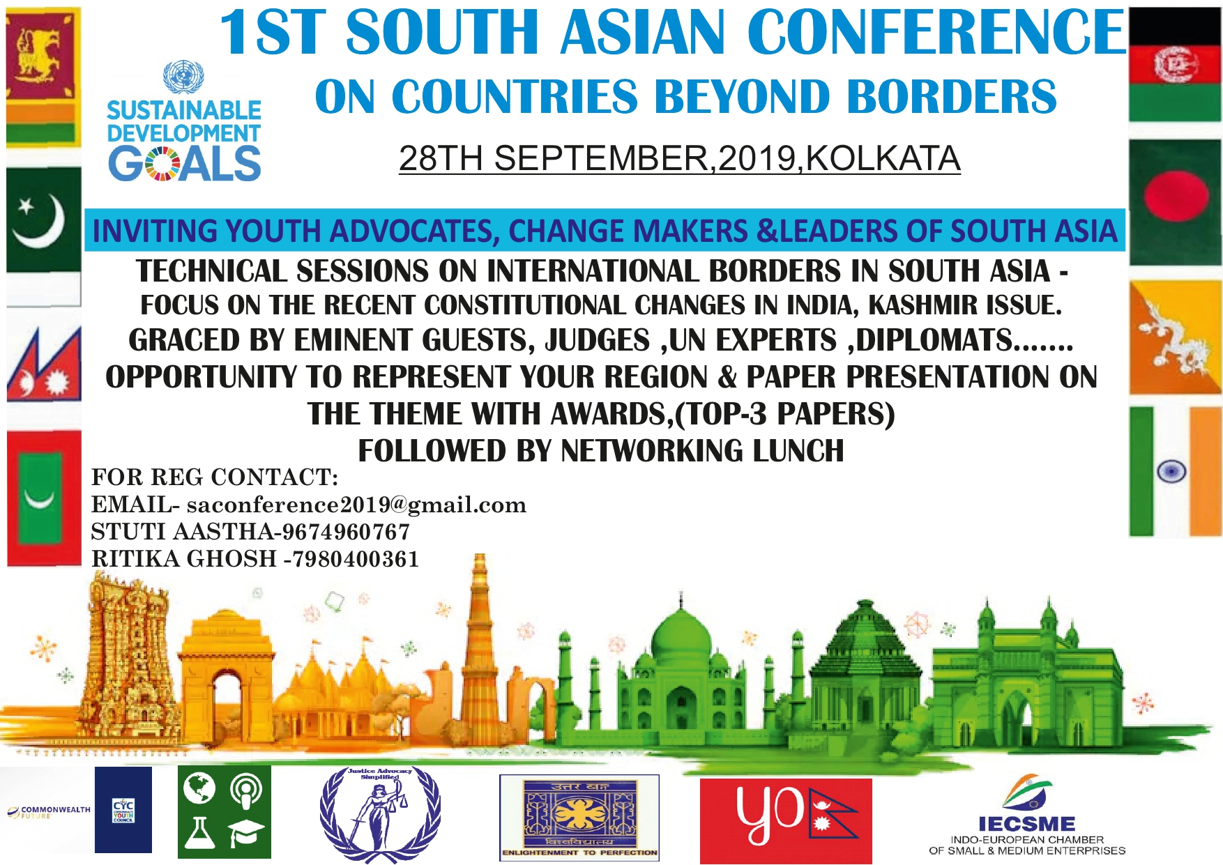 CfP: 1st South-Asian Conference on Countries Beyond Borders by JAS [Sep 28, Kolkata]: Submit by Sep 25