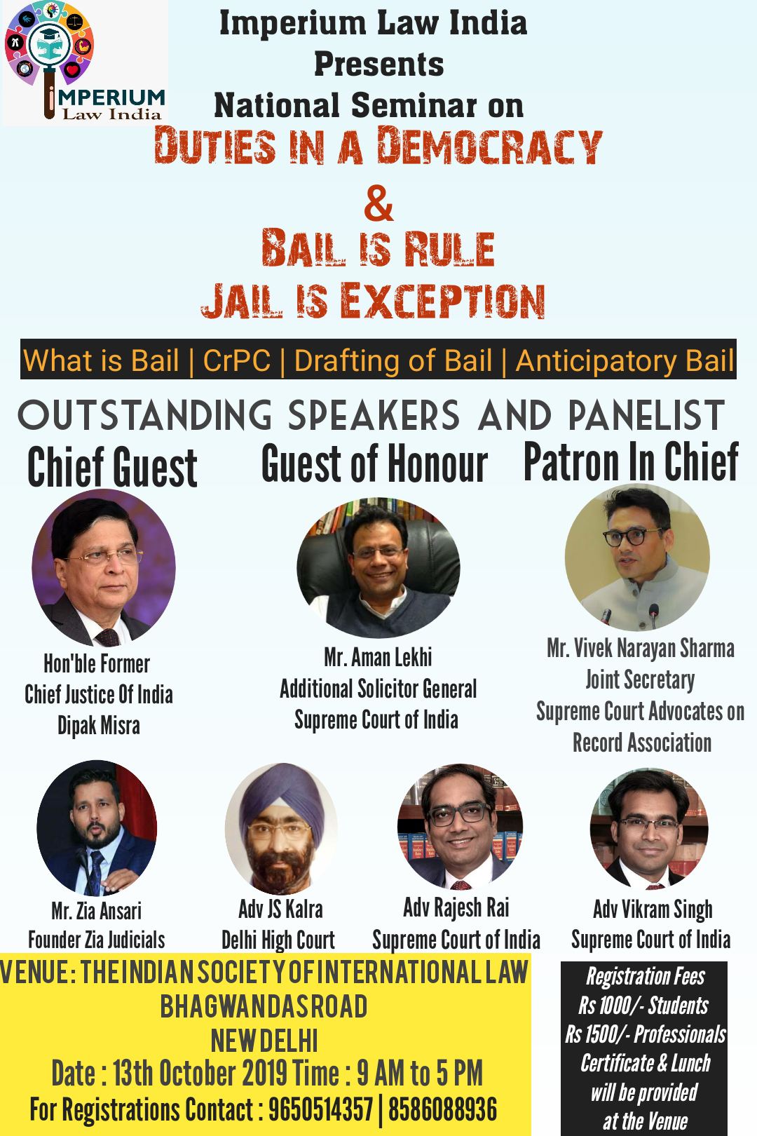 Seminar on Bail is rule and Jail is exception by Imperium Law India