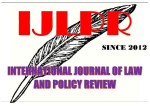 International Journal of Law and Policy Review