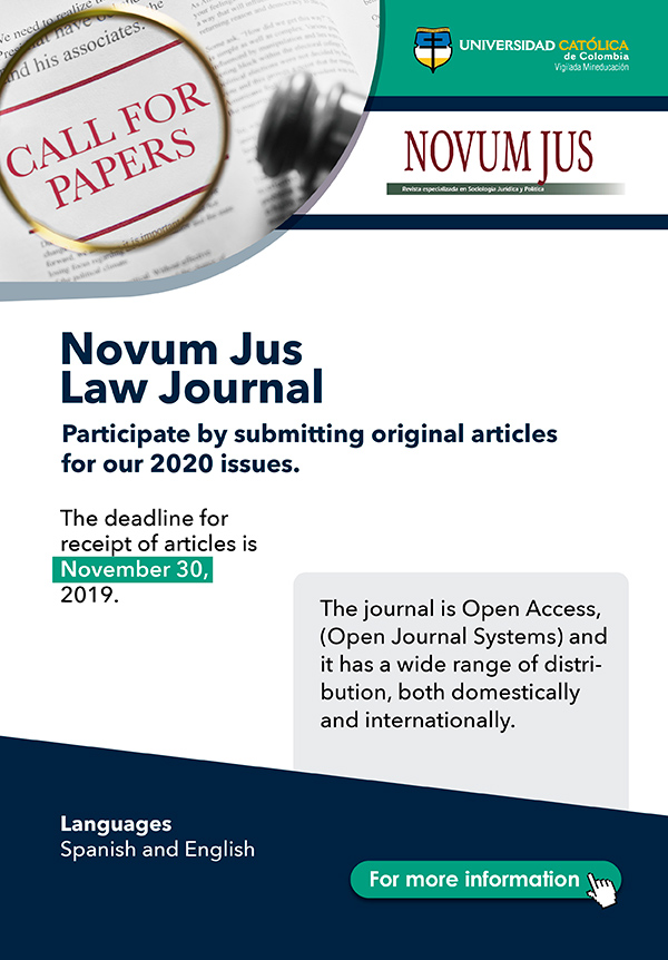 Catholic University of Colombia's Novum Jus Law Journal