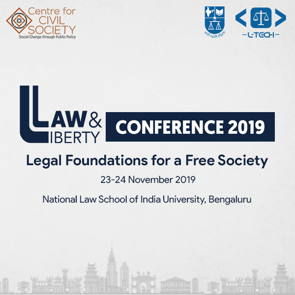 Centre for Civil Society's Law and Liberty Conference at NLSIU, Bangalore [Nov 23-24]: Register by Nov 3