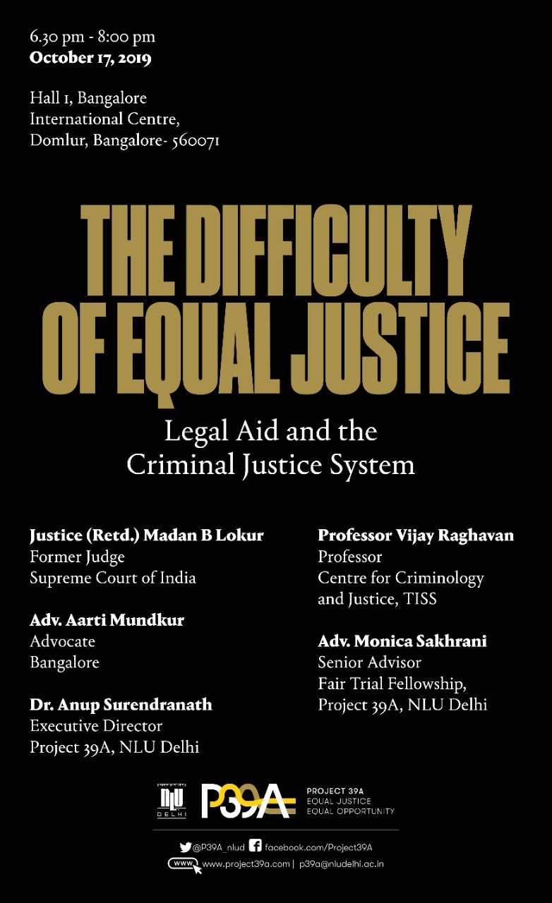 Panel Discussion of Difficulty of Equal Justice