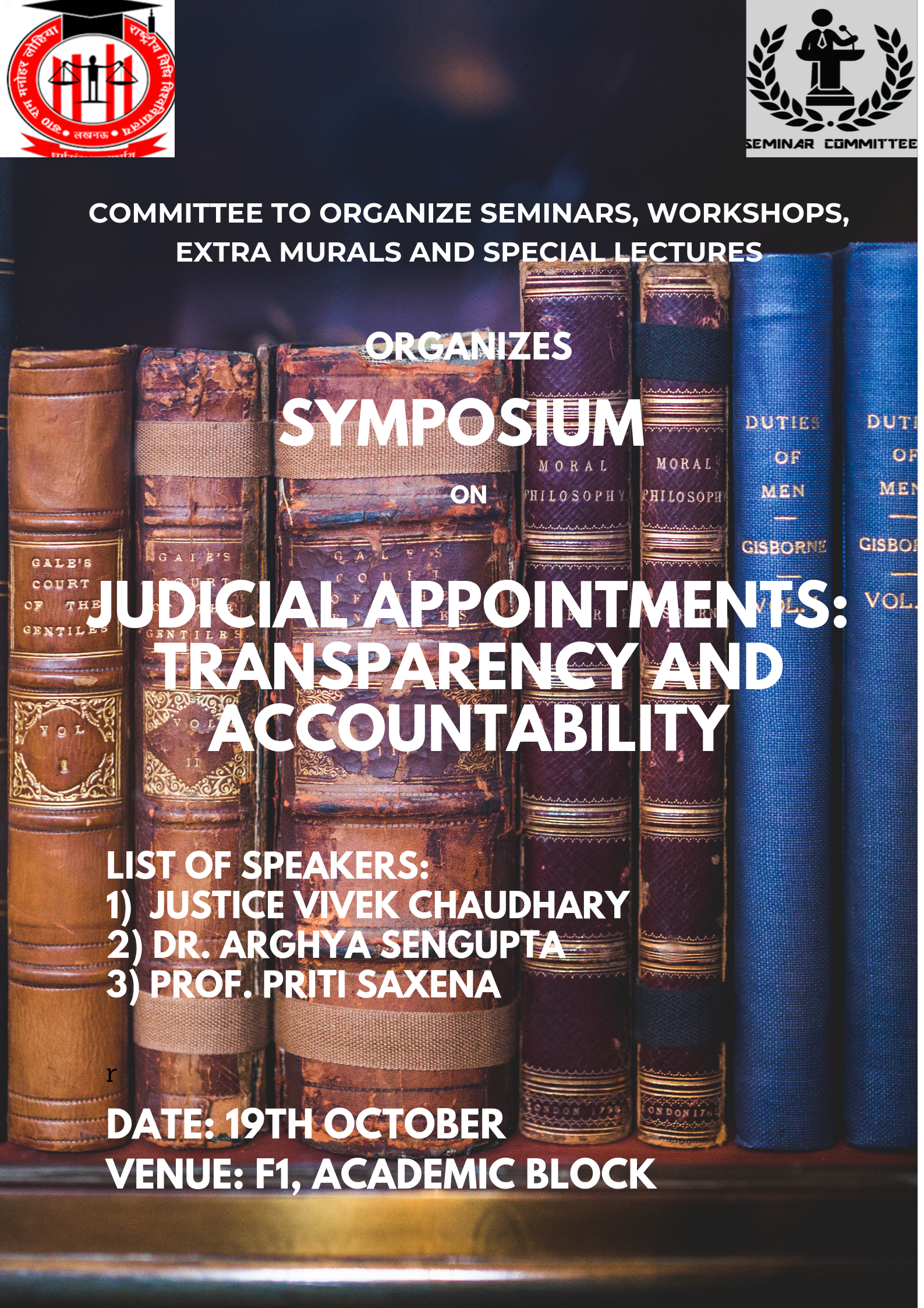 Symposium on Judicial Appointments at RMLNLU, Lucknow [Oct 19]: Registrations Open