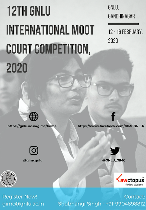 12th GNLU International Moot Court Competition
