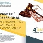 Online Advanced Course in Competition Law and Market Regulations by IICA