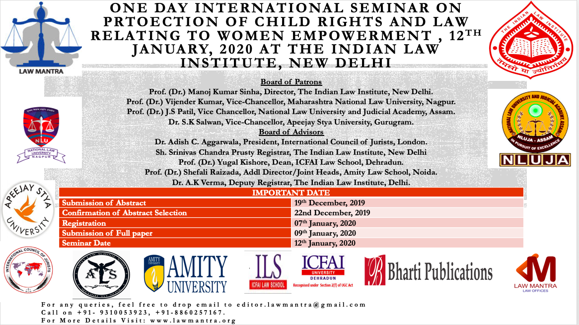 Seminar on Child Rights and Women Empowerment at ILI,