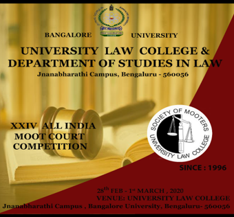 24th All India Moot Court Competition at University Law College, Bangalore University