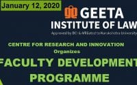 FDP on Introduction to Innovative Teaching Method & Research Skills at Geeta Institute of Law, Panipat