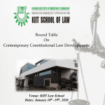 KIIT Round Table Contemporary Constitutional Law Developments