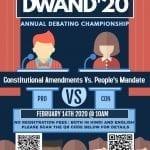 Dwand, Annual Debate Championship by Vichitra Kumar Sinha Smriti Samiti, Bhopal