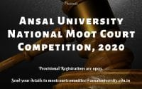 National Moot Court Competition at School of Law, Ansal University, Gurugram