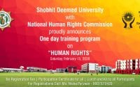 Training Program on Human Rights and Penal Discussion at Shobhit Deemed University, Meerut