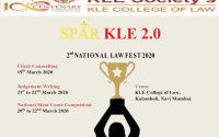 KLE College Law Fest Moot SPARKLE 2020