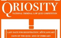 National Criminal Law Quiz Competition by NUJS