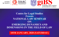 National Seminar on Emerging Dynamics and Dimensions in the Field of Law at GIBS