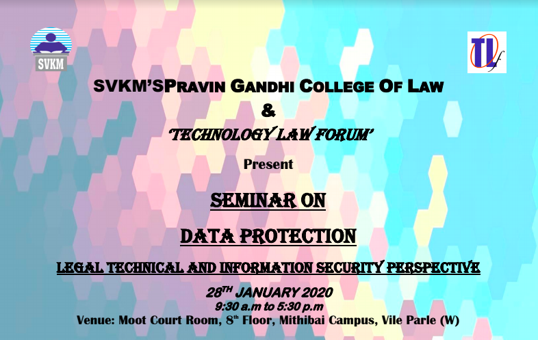 Seminar on Data Protection at SVKM's Pravin Gandhi College of Law, Mumbai