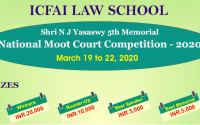 Shri NJY 5th Memorial National Moot Court 2020 at ICFAI Law School, Hyderabad