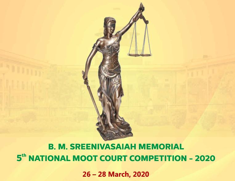 5th B M Sreenivasaiah Memorial National Moot Court Competition