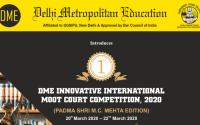 1st Delhi Metropolitan Education Innovative International Moot Court Competition