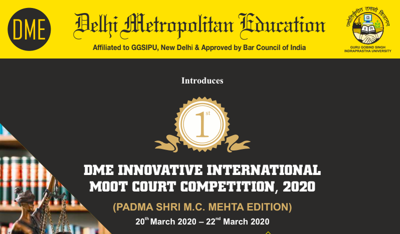 1st Delhi Metropolitan Education Innovative International Moot Court Competition