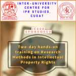 Training on Research Methods in IPR at CUSAT, Kochi