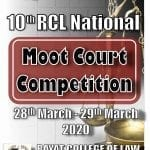 10th RCL National Moot Court Competition