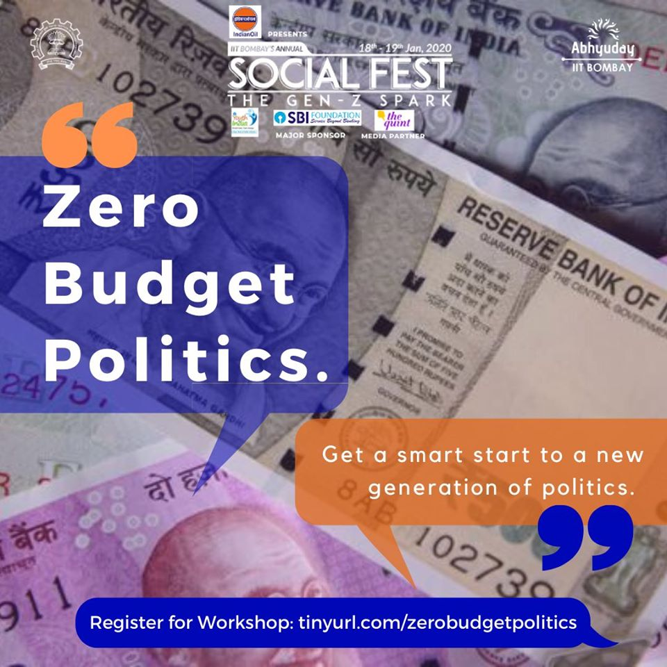 Zero Budget Politics Workshop at Social Fest of IIT Bombay