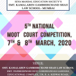 Smt. K. G. Shah Law School's 5th National Moot Court Competition