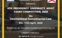 4th Presidency University Moot Court Competition, 2020