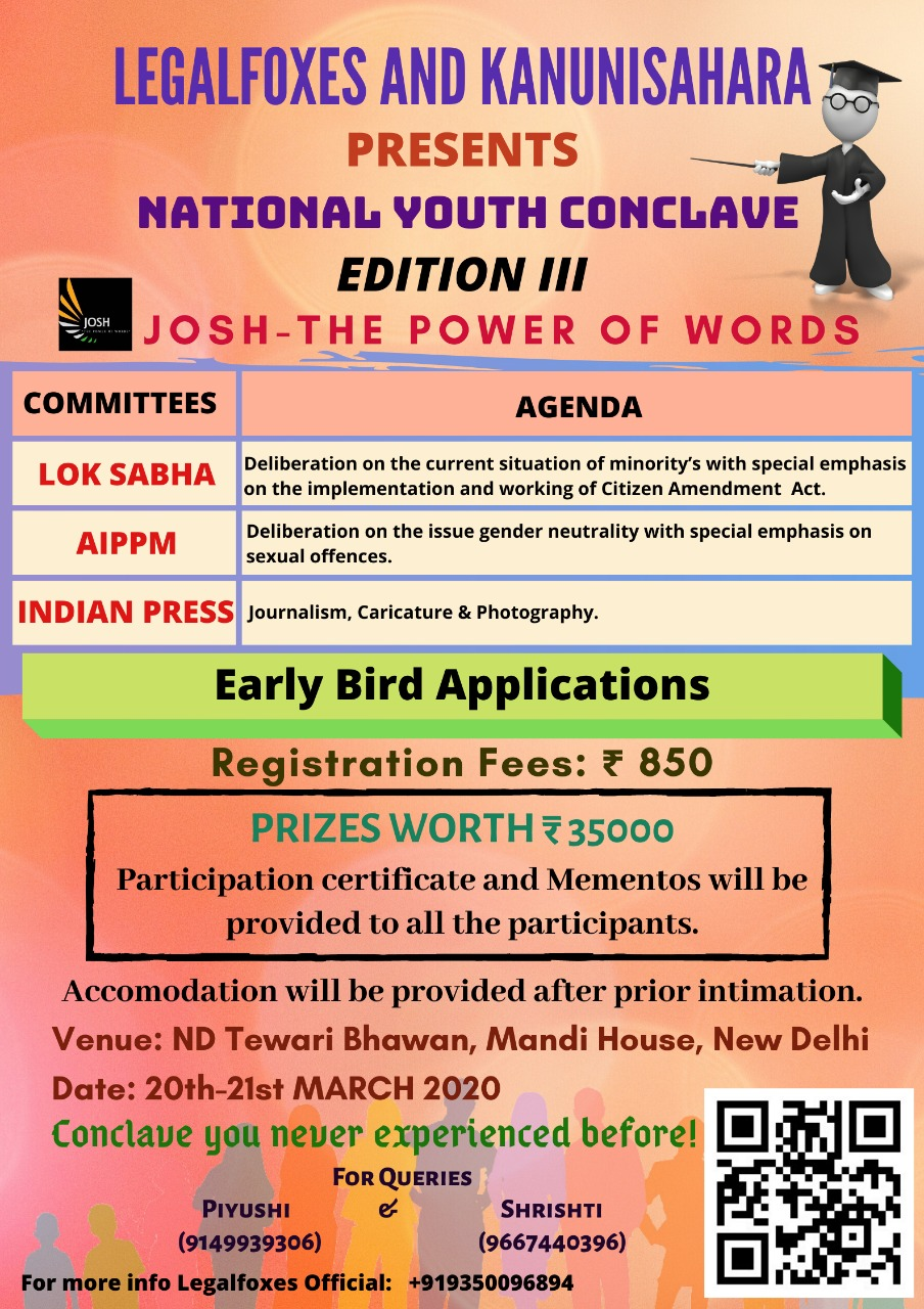 The Power of Words Youth Conclave by Legal Foxes and Kanuni Sahara